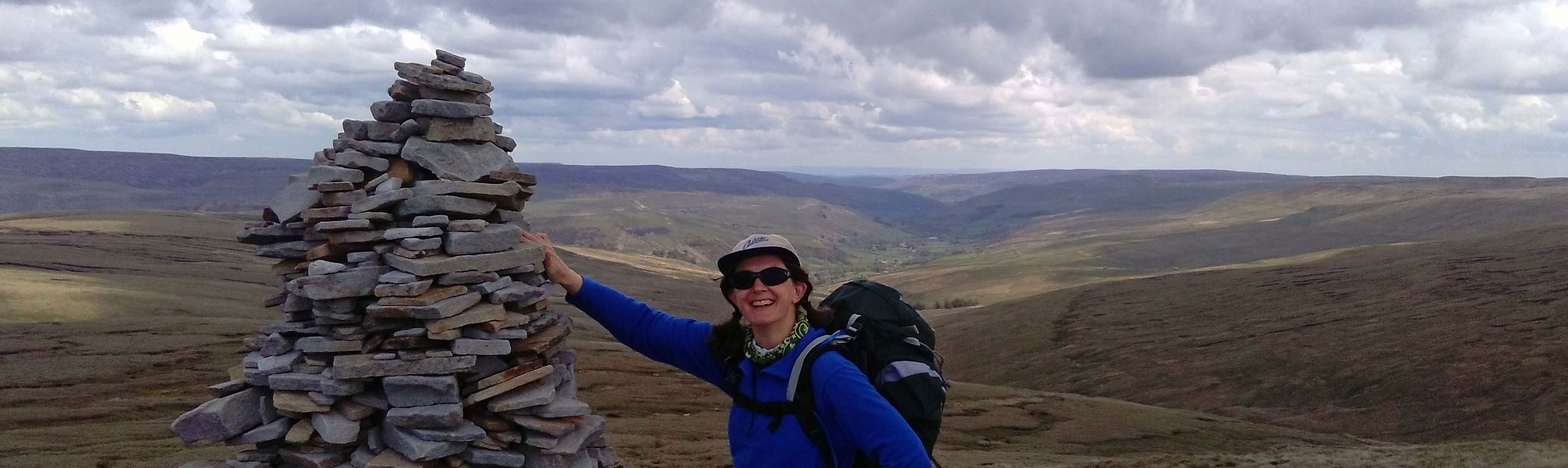 Susan on the Pennine Way in Yorkshire