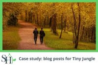 Case study: blog posts for Tiny Jungle