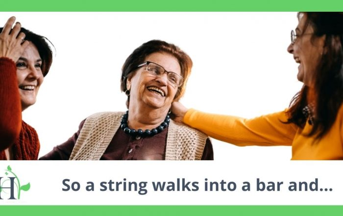 So a string walks into a bar and...