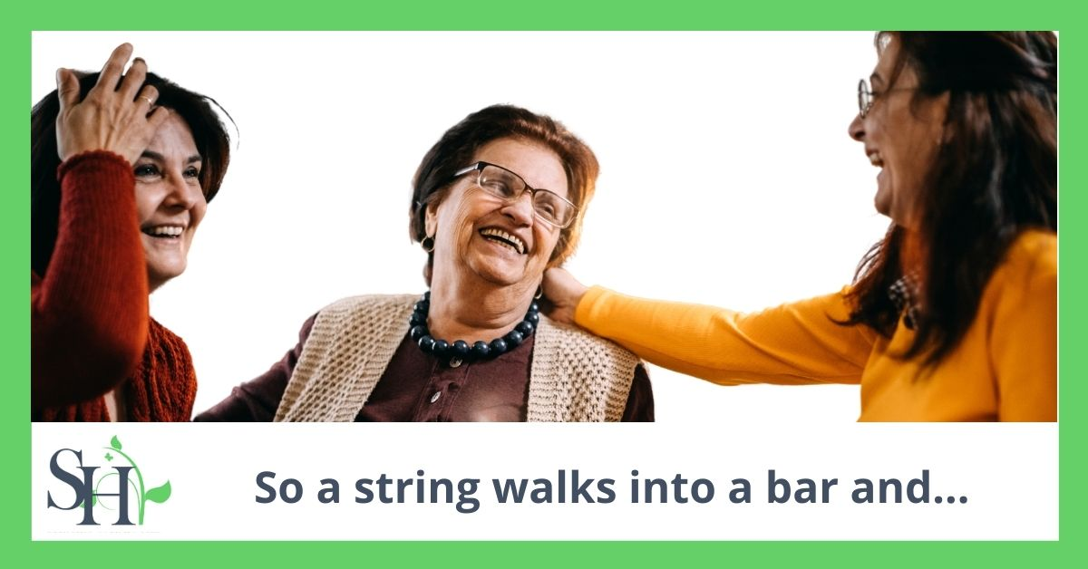 So a string walks into a bar and…