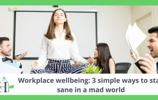 Workplace wellbeing: 3 simple ways to stay sane in a mad world